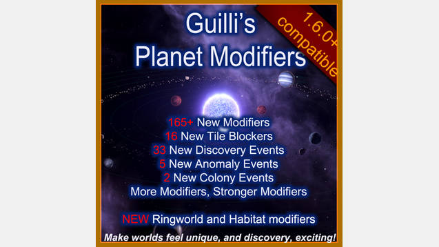 Guilli's Planet Modifiers for Stellaris - Stellaris mod
