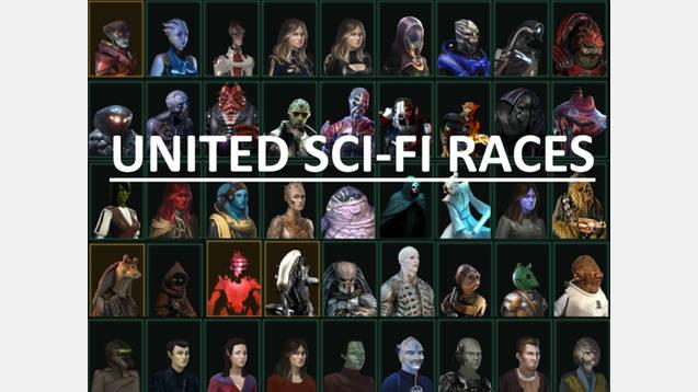 United Sci-Fi Races-) For for Stellaris - Stellaris mod