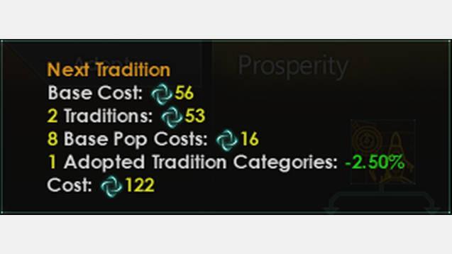 Adjusted Tradition Tree Adoption Costs Mod Stellaris Mod