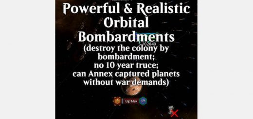 Vicious Orbital Bombardment For Mod - Stellaris mod