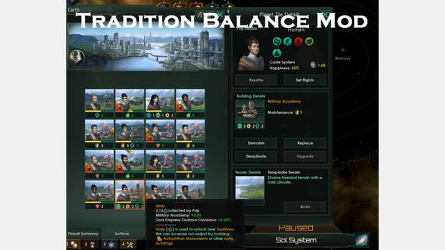 Tradition Balance Stellaris Mod Stellaris Mod